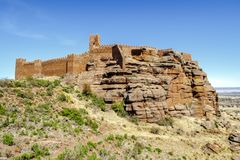 Peracense Castle in Teruel province, Aragon, Spain. Peracense Castle, X-XI centuries, in Teruel province, Aragon, Spain Stock Photography