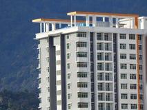 Perak, Малайзия 12-ое декабря 2017: Крупный план коммерчески здания под конструкцией на Meru, Perak Селективный фокус и урожай fr Стоковые Изображения RF