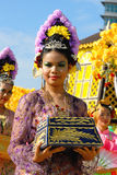 Perak Traditional Costumes Stock Image