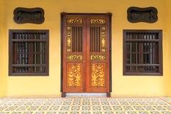 Peranakan样式家外部在槟榔岛 免版税库存图片