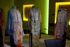 Peranakan Kebaya. The display of kebaya wear of peranakan culture in Singapore Peranakan Museum. Photo was taken on 19 November 2011 Stock Photos
