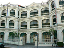 Peranakan Museum. Front view of the Peranakan Museum in Singapore city Stock Photo