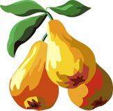 Peras amarelas Imagens de Stock Royalty Free