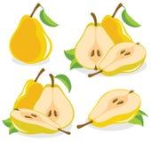 Peras amarelas Imagens de Stock