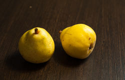Peras amarelas, maduras Fotografia de Stock Royalty Free