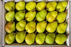 Peras amarelas saborosos Fotos de Stock