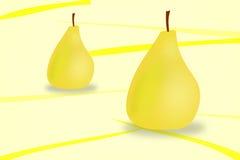 Peras amarillas Imagen de archivo libre de regalías