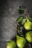 Peras crudas frescas Foto de archivo libre de regalías