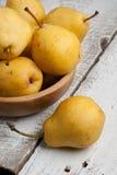 Peras doces amarelas Imagens de Stock