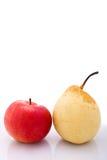 Peras e appel Foto de Stock