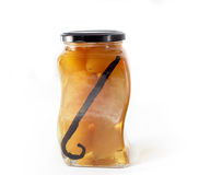Peras en alcohol Imagen de archivo libre de regalías
