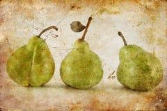 Peras en grunge Fotos de archivo