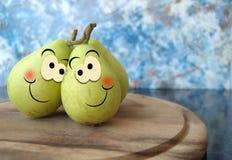 Peras felizes Foto de Stock
