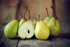 Peras frescas Imagens de Stock