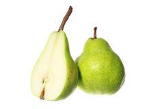 Peras frescas isoladas no fundo branco Imagem de Stock Royalty Free