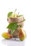 Peras maduras em um saco Imagem de Stock Royalty Free