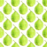 Peras Modelo inconsútil con las frutas Fondo a mano Ilustración del vector Fotografía de archivo libre de regalías