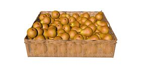 Peras, na cesta Imagem de Stock
