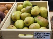 Peras orgánicas Foto de archivo libre de regalías