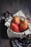 Peras rojas Fotos de archivo libres de regalías