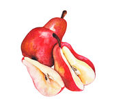 Peras rojas Imagenes de archivo