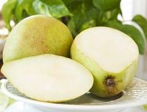 Peras verdes deliciosas Imagens de Stock Royalty Free