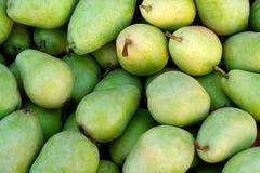 Peras verdes deliciosas Foto de archivo