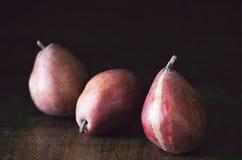 Peras vermelhas Fotografia de Stock Royalty Free
