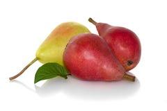 Peras vermelhas e amarelas Fotografia de Stock