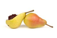 Peras y atasco de cereza foto de archivo