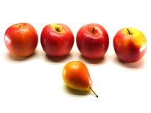 Peras y manzanas Imagen de archivo libre de regalías