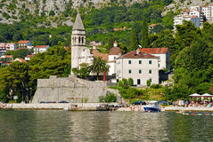 Perast, κόλπος Kotor, Μαυροβούνιο Στοκ Εικόνες