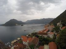 Perast и залив Kotor Стоковое Изображение