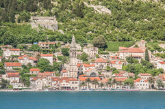 Perast старый городок на заливе Kotor Стоковое фото RF