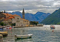 Perast bay Stock Photography