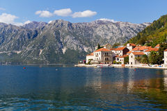Perast on the Bay of Kotor in Montenegro Stock Photos