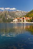 Perast on Bay of Kotor, Montenegro Royalty Free Stock Photography