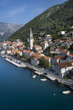 Perast. In the Bay of Kotor, Montenegro Stock Images