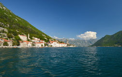 Perast in the Bay of Kotor Royalty Free Stock Photos