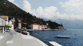 Perast and Bay of Kotor. stock photography