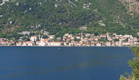Perast city Stock Photo