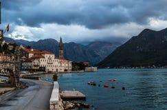 Perast city in Kotor bay Royalty Free Stock Photo