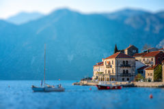 Perast city in Kotor bay Royalty Free Stock Photography