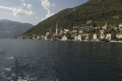 Perast city, Montenegro stock photography