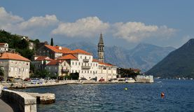 Perast, the city by the sea. Photo of Perast on Kotor Bay - Montenegro - July 2010 Royalty Free Stock Photos
