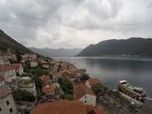Perast e baía de Kotor Foto de Stock Royalty Free
