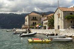 Perast fjärd av Kotor, Montenegro Royaltyfri Bild