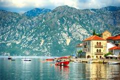 Perast fjärd, Montenegro royaltyfri bild