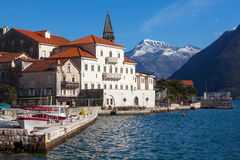 Perast. Fragment of an old town Perast Royalty Free Stock Image