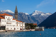 Perast. Fragment of an old town Perast Royalty Free Stock Images